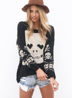 Skull Sweater #comfy #fallfashion