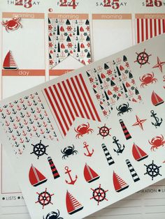 Planner Stickers Flags Nautical Life by twiceasnicelettering