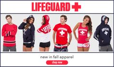 Stock up on red, white & blue apparel from Lifeguard! We've got it it all: Lifeguard of Myrtle Beach designs plus classic Lifeguard styles, so just pick and choose from brand new longsleeves, sweatshirts, tees and tanks. These are must-haves for cooler weather: get yours now at Eagles Beachwear Online!