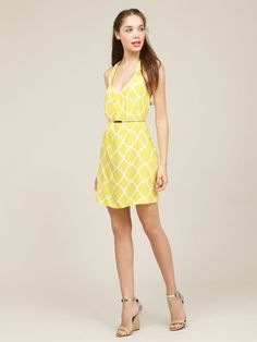 alice & trixie silk amber tank dress    like the pattern but too low cut for me!