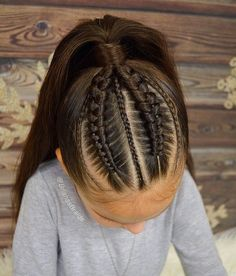 Ideal Children's Hairstyles With a Combination of Pigtails. Hairstyles Girly Your Daughter will Love Ideal Children's Hairstyles With a Combination of Pigtails. Hairstyles Girly Your Daughter will Love Childrens Hairstyles, Easy Hairstyles For Kids, Kids Braided Hairstyles, Little Girl Hairstyles, Trendy Hairstyles, Straight Hairstyles, Female Hairstyles, 1920s Hairstyles, Oscar Hairstyles