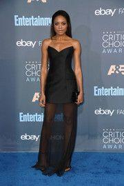 Naomie Harris Strapless Dress