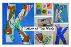 Letter Of The Week - fun crafts and activities for every letter. Great for pre-k or kindergarten.