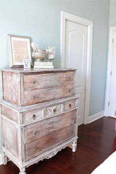 painted furniture- whitewashed and dry brushed