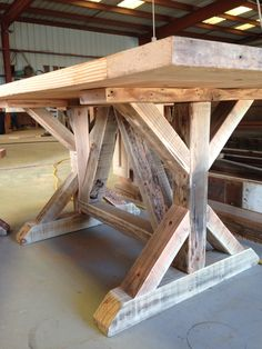 Ideas For Farmhouse Table Trestle Chairs Farmhouse Dining Room Table, Dinning Room Tables, Diy Dining Table, Trestle Table, Rustic Table, Farmhouse Furniture, Rustic Furniture, Farmhouse Ideas, Woodworking Projects Diy