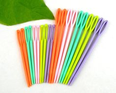 Hot 20PCs Mixed Multicolor Plastic Knitting Needles Needlework Sewing Tool Needle Arts & Crafts 1 Set 7cm 9.5cm-in Sewing Tools & Accessory from Home & Garden on Aliexpress.com | Alibaba Group