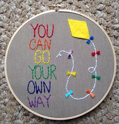 Free Shipping Rainbow Kite Wall Art Quote door MomUpcyclesShop, $25.00