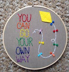 Free Shipping Rainbow Kite Wall Art Quote door MomUpcyclesShop, $25.00