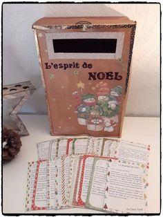 Boîte aux lettres de l'Avent : L'Esprit de Noël - #calendrierdelaventdiy boite aux lettres de l'avent, esprit de noel, activités enfants noel, calendrier de l'avent, printable