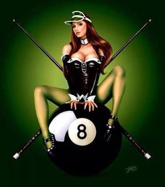 Always behind the eight-ball. Pin Up Girls, Girls Image, Club Sportif, Modelos Pin Up, Arte Pop, Pin Up Art, Popular Culture, Wonder Woman, Lady