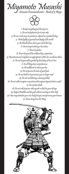 Samurai commandments