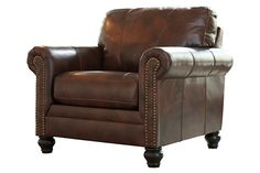 Big brown leather chair for your living room décor