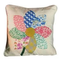 hand stitched fabric flowers joined for a pillow - Google Search