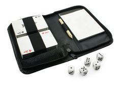 Zestaw gier w etui karty kości notes