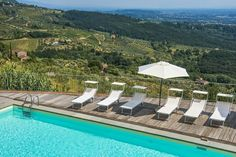 Amazing view from one of our pools in Tuscany! <3