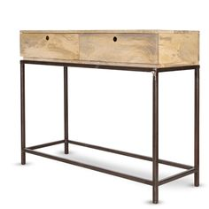 console d entr e avec anciens tiroirs industriels plateaux et cot s en ch ne ou pic a http. Black Bedroom Furniture Sets. Home Design Ideas