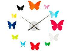 horloge murale papillons personnalisable