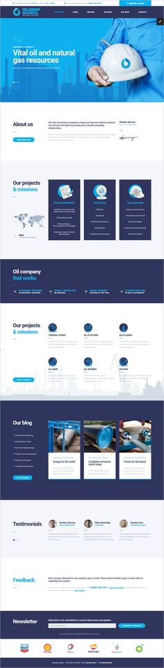 OilDrop is a modern and exquisite bootstrap #HTML template for #industrial, #engineering business or oil production company website download now➩ https://themeforest.net/item/oildrop-oil-and-gas-industrial-html-template-with-builder/18817614?ref=Datasata