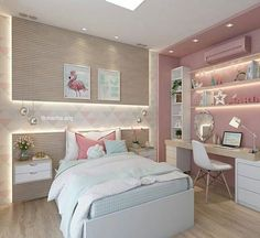Cute And Girly Pink Bedroom Design For Your Home. Here are the Cute And Girly Pink Bedroom Design For Your Home. Bedroom Paint Design, Girl Bedroom Designs, Girls Bedroom, Bedroom Color Schemes, Bedroom Colors, Bedroom Neutral, Interior House Colors, Interior Design, One Room Flat