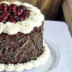 Need a great dessert for Easter Dinner? How about Double Chocolate Black Forest Cake - easier than it looks, this is simply chocolate cake, a easy chocolate whipped ganache frosting, whipped cream and fresh cherries. Easy but impressive.