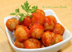POLPETTE AL SUGO MORBIDE FINGER FOOD -ricetta secondo carne