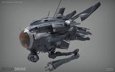 Recon Drone, Bruce Bailey on ArtStation at https://www.artstation.com/artwork/aYyOq