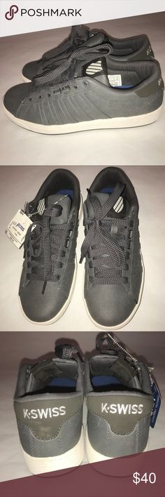 Men's gray K-Swiss sneakers size 8 NWT Nice low top K-Swiss sneakers, size 8, gray color, brand NWT K-Swiss Shoes Sneakers
