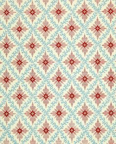 an American wallpaper pattern from 1850s