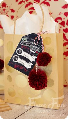 Handmade Especially for you Christmas tag printable!