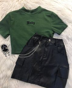 Teen Fashion Outfits, Edgy Outfits, Mode Outfits, Retro Outfits, Grunge Outfits, Outfits For Teens, Vintage Outfits, Girl Outfits, Summer Outfits