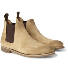 Ralph Lauren washed suede Chelsea boots #shoes