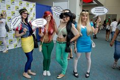 comic con hipster princesses