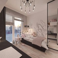 Pokoje dziecięce i młodzieżowe - Living Box 6 Bedroom House Plans, House Rooms, Small Room Bedroom, Room Decor Bedroom, Box Bedroom, Home Room Design, Home Interior Design, Teen Bedroom Designs, Stylish Bedroom