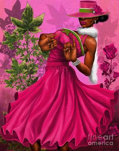Elegant Pink And Green Poster by The Art of DionJa'Y. All posters are professionally printed, packaged, and shipped within 3 - 4 business days. Choose from multiple sizes and hundreds of frame and mat options. Aka Sorority Gifts, Alpha Kappa Alpha Sorority, Sorority Canvas, Theta, I Love Diy, Slim Aarons, Air Show, Red Hats, Pink And Green
