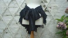 Upcycled Black Bustle Woman's Clothing Mori von BabaYagaFashion