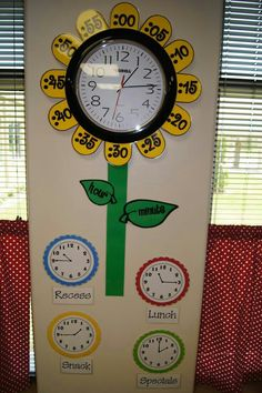Kind of an interesting idea for maybe first grade on working on telling time.