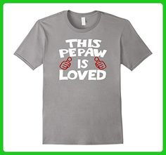 Mens This Pepaw is Loved Tshirt Fathers Day Gift Idea Birthday Large Slate - Birthday shirts (*Amazon Partner-Link)