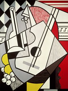 Roy Lichtenstein  Cubist Still Life, 1974 Oil and Magna on canvas  90 x 68 inches; 228.6 x 172.7 cm