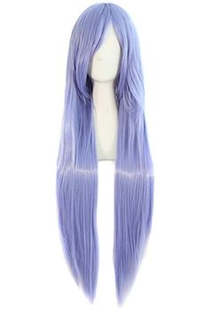 "MapofBeauty 32"" 80cm Long Straight Anime Costume Cosplay Wig Party Wig (Light Purple) MapofBeauty http://www.amazon.com/dp/B00GTJRWQG/ref=cm_sw_r_pi_dp_U3O-wb0WDEJDE"