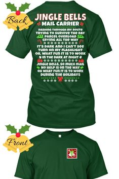 Makes a great gift for a co-worker or mail carrier friend! Christmas Mail, Christmas Shirts, Christmas Humor, Christmas Layout, Christmas Post, The Office Shirts, Work Shirts, Going Postal, Cheap Shopping
