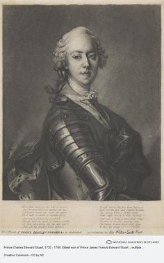 Louis Tocque, Prince Charles Edward Stuart, 1720 - 1788. Eldest son of Prince James Francis Edward Stuart