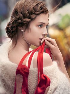 Ballerina hairstyle - soft and woven braid