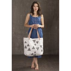 large beach tote in Temple print