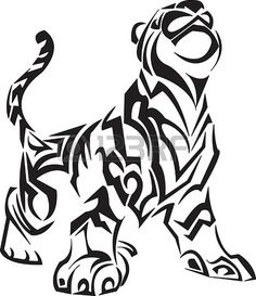 Vector Illustraition Of Lion Design Set Made With Simple Line Only ...