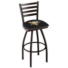 """Pittsburgh Penguins 25"""" Wrinkle Bar Stool with Ladder Style Back - $199.00"""