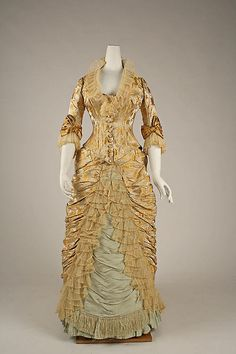 Dinner Dress Charles Fredrick Worth, 1877 The Metropolitan...