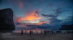 Popular on 500px : Evening at West Railay Beach by nfossheim