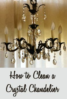 How to clean a crystal chandelier chandeliers cleaning how to clean a crystal chandelier mozeypictures Gallery