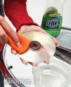 Clean skipping discs... Wipe with water and mild detergent