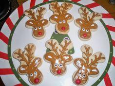 reindeer sugar cookies | Reindeer Christmas Cookies by Just4YouTreats on Etsy
